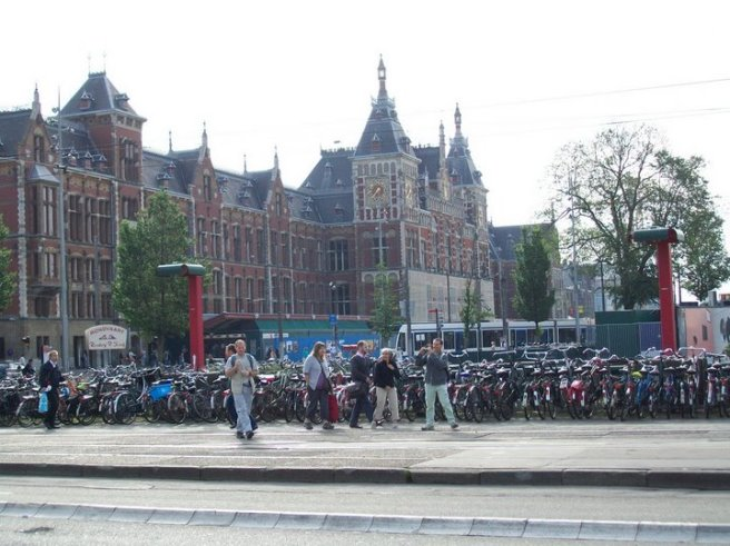 Bikes outside Amsterdaam Centraal.