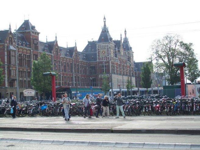 Bikes outside Amsterdaam Centraal.
